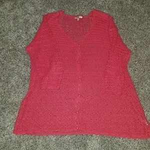 Liz Claiborne crocheted cardigan
